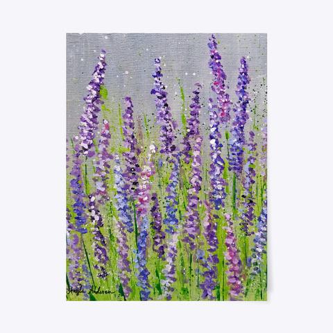 Lavender Flower Fields White T-Shirt Front