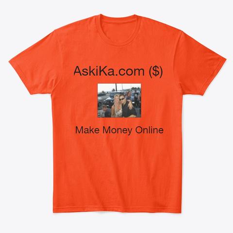 Aski Ka.Com Apparel Deep Orange  T-Shirt Front