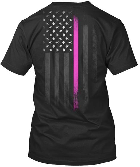 Fight Breast Cancer Black T-Shirt Back
