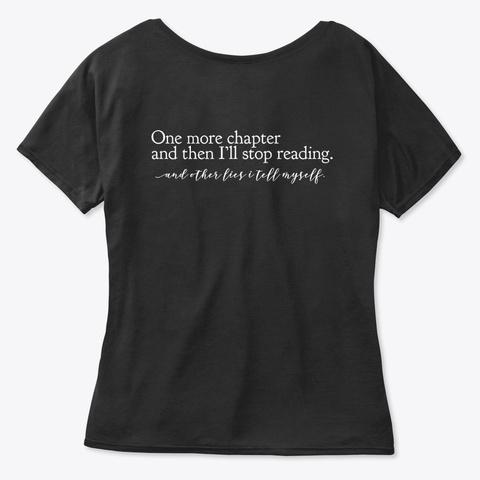 Language + One More Chapter Lies Black T-Shirt Back