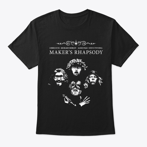Makers Rhapsody Swag Black T-Shirt Front