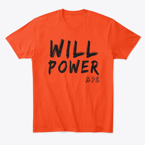 Aps Will Merch Deep Orange  T-Shirt Front
