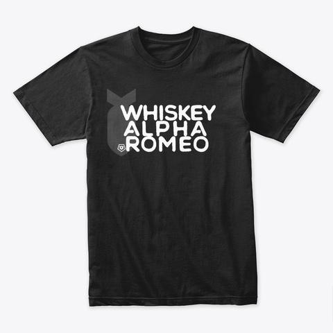 Whiskey Alpha Romeo Black T-Shirt Front