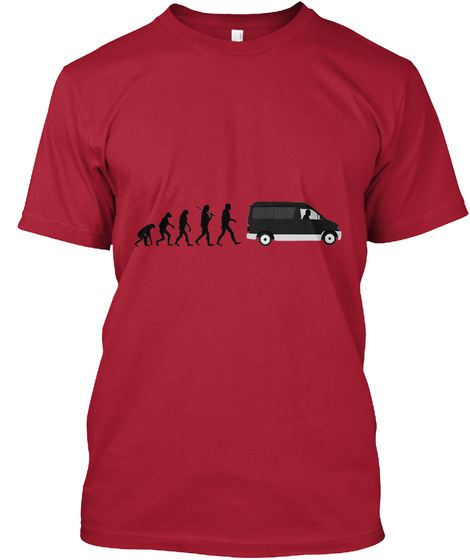 Evolution Of The Bongo Cherry Red T-Shirt Front