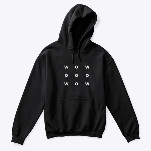 Hoodie: Wow Black T-Shirt Front