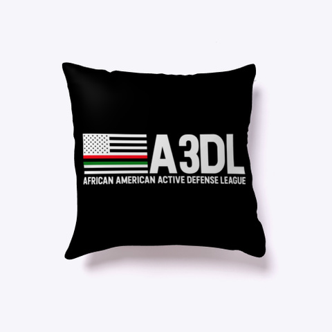 A3 Dl Black Indoor Pillow Black T-Shirt Front