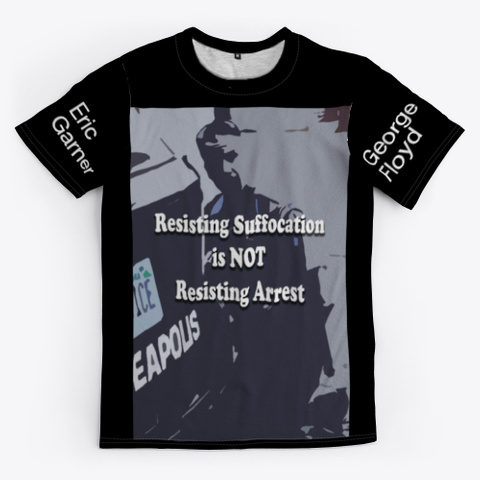 Resisting Arrest Black T-Shirt Front