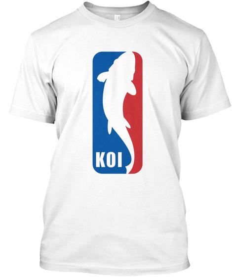 Koi White T-Shirt Front