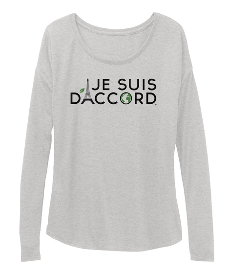 Jesuis Daccord Athletic Heather T-Shirt Front