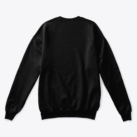 Snow Crew Neck Black T-Shirt Back