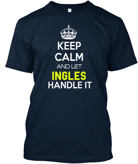 Ingles New Navy T-Shirt Front