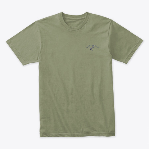 Winyah Bay Light Olive T-Shirt Front