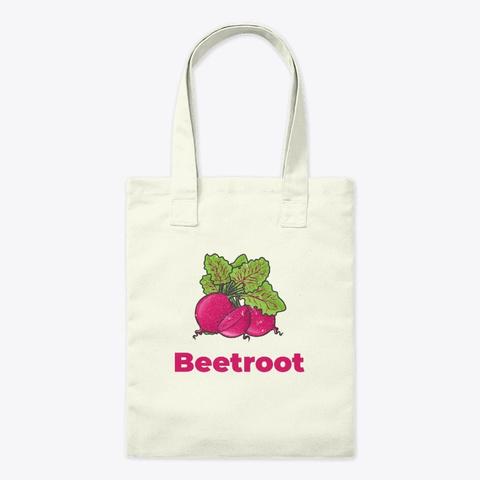 Beetroot Vegetable Natural T-Shirt Front
