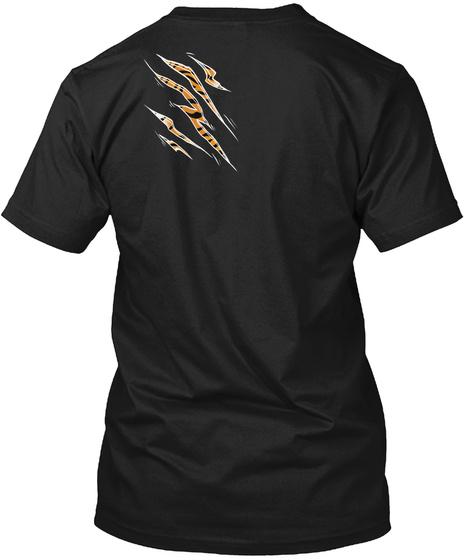 Wild Cat Tiger Black T-Shirt Back