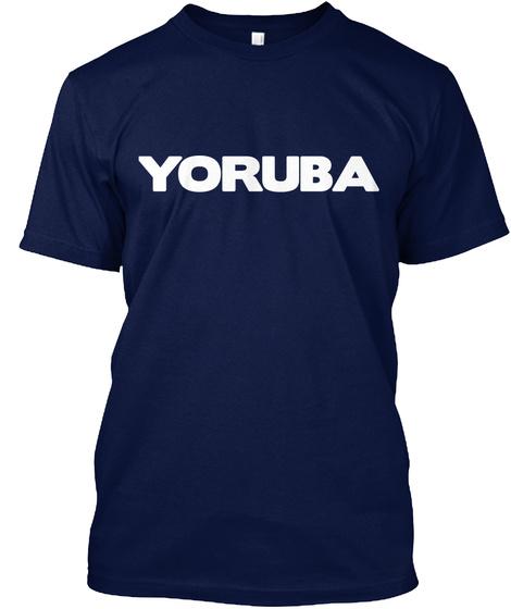 Yoruba Navy Camiseta Front