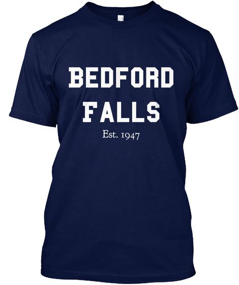 Bedford Falls Est. 1947 Navy T-Shirt Front
