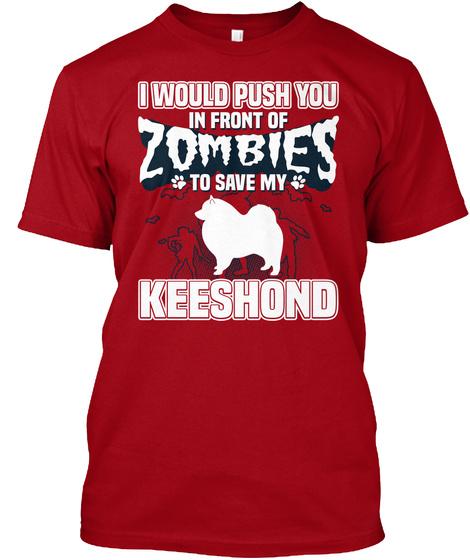 Keeshond Deep Red T-Shirt Front