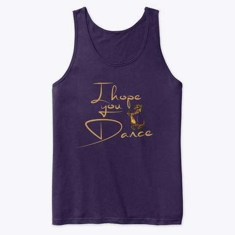 I Hope You Dance. Ballet Design. Team Purple T-Shirt Front