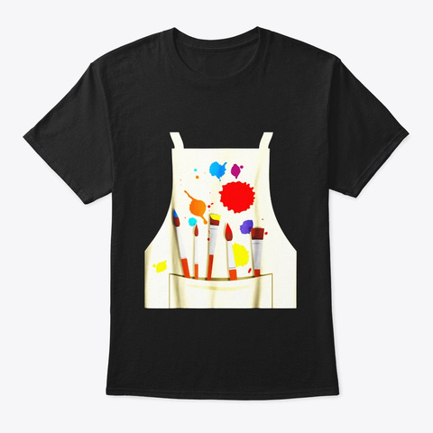 Funny Artist Costume Tee Shirt For Black T-Shirt Front