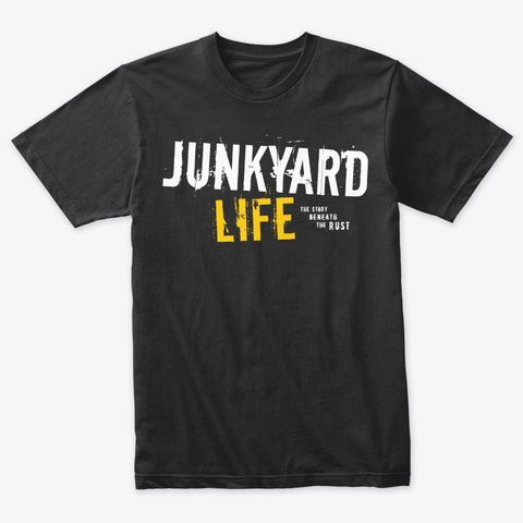 Junkyard Life Logo Tshirt #1 Vintage Black T-Shirt Front