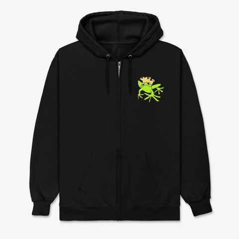 King Frog  Black T-Shirt Front