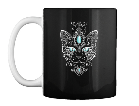 Cat Mugs And Gifts For Cat Lover Black T-Shirt Front