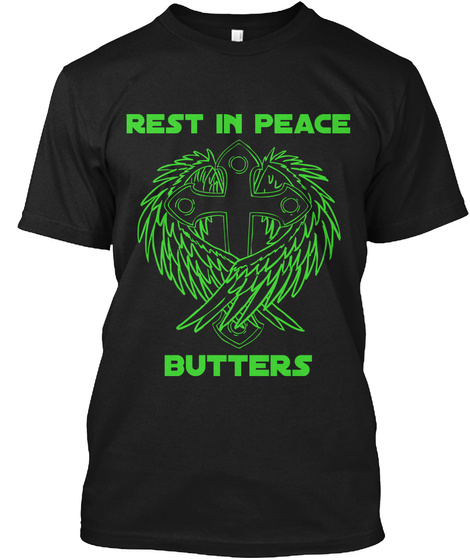 Rest In Peace Butters Black T-Shirt Front