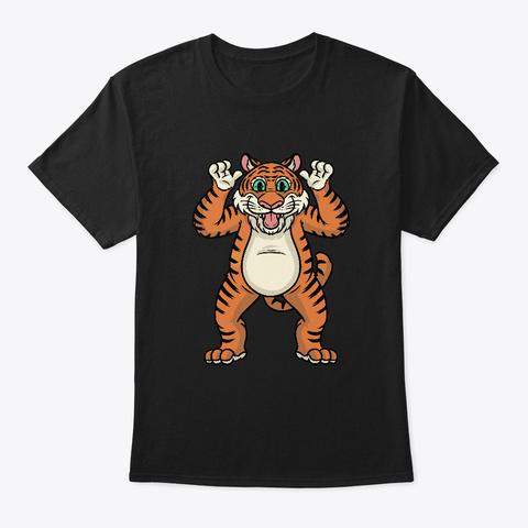 Tiger Shirt For Halloween Black T-Shirt Front