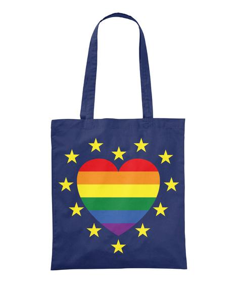 European Pride Totes And Mugs Navy T-Shirt Front