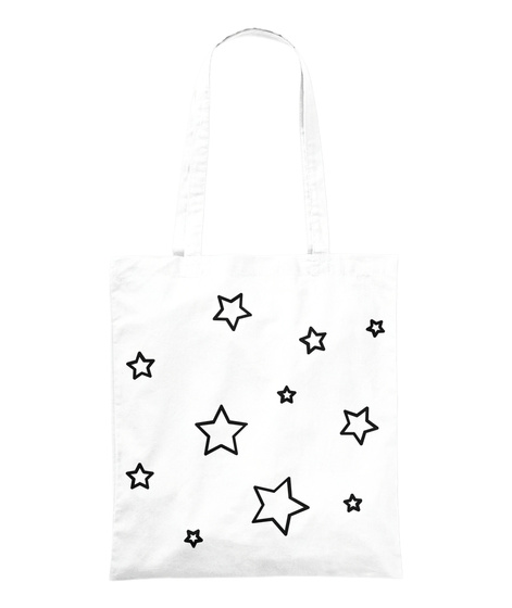 Stars Collection White Tote Bag Front