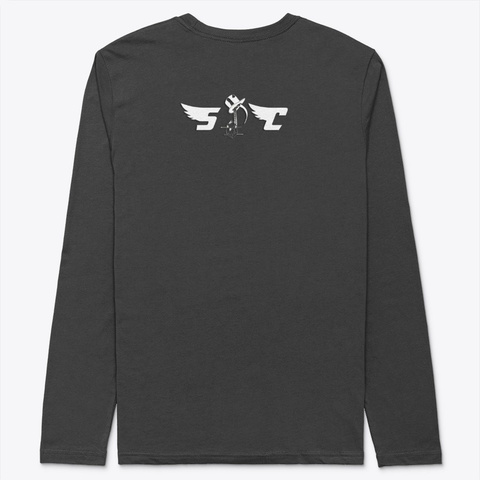 Star Crystal In Black Black T-Shirt Back