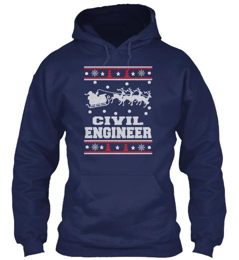 Civil Engineer Navy T-Shirt Front