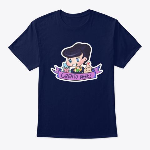 Josuke   Greato Daze Navy T-Shirt Front