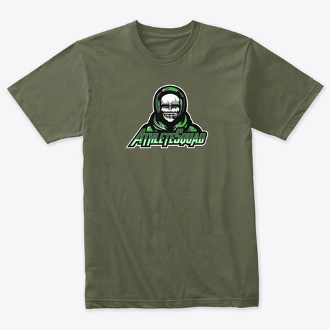 Green Bold Logo Military Green T-Shirt Front