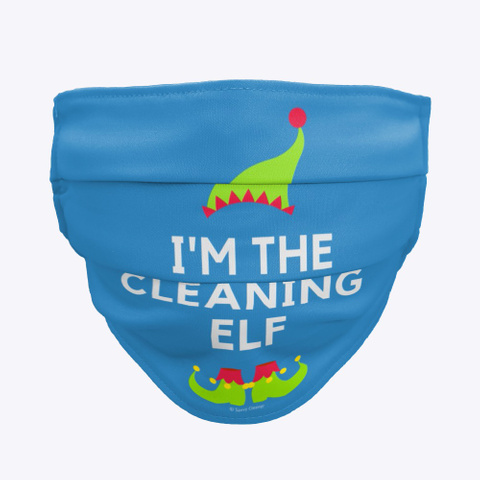 The Cleaning Elf Denim Blue T-Shirt Front