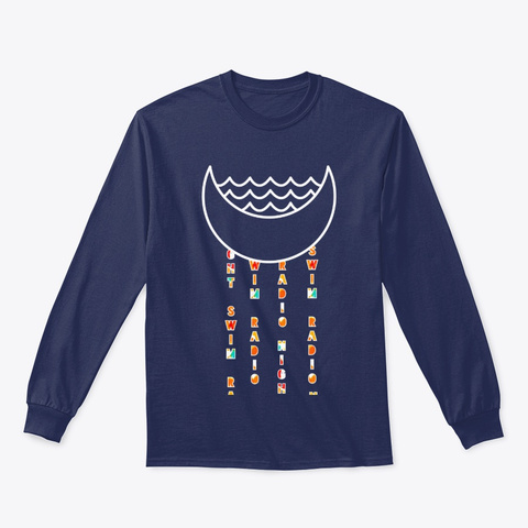 Rain Tee  Navy T-Shirt Front