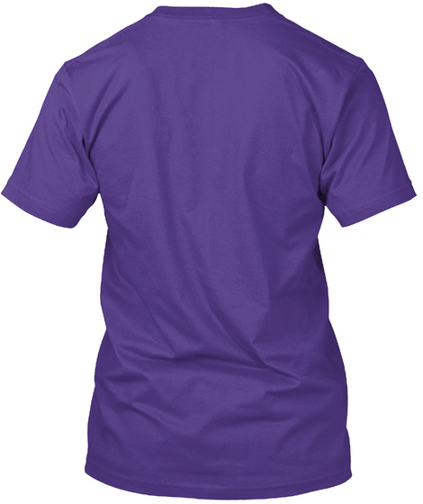 Spiritual As Hell T Shirt Purple T-Shirt Back