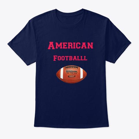 American Football Navy T-Shirt Front