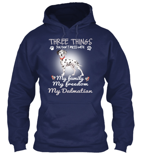 Love With My Dalmatian Dog Navy T-Shirt Front