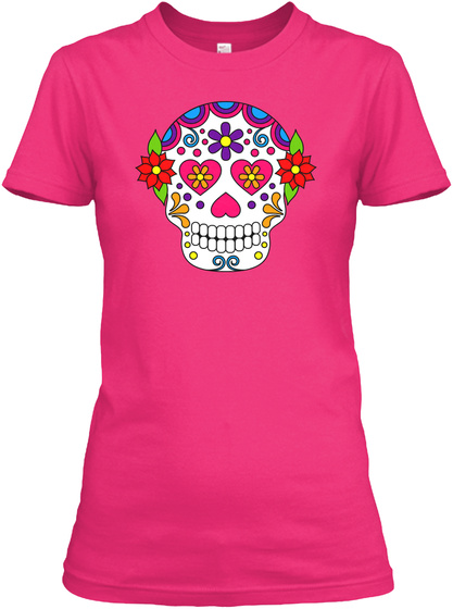 Kandikids Happy Skull Heliconia Women's T-Shirt Front