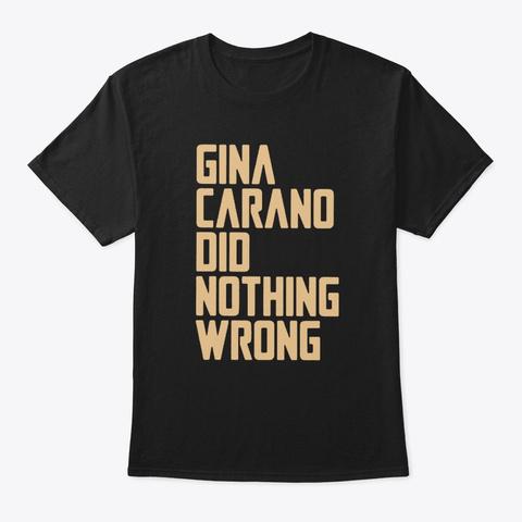Bob Iger Gina Carano Shirt Black T-Shirt Front