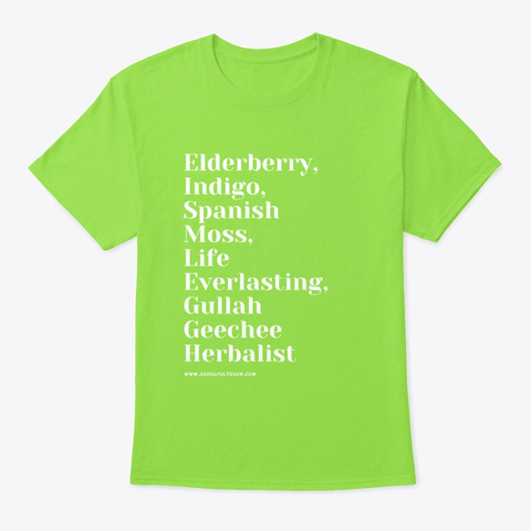 Gullah Geechee Herb Staples Lime T-Shirt Front
