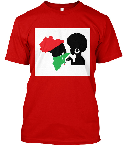 A Queen's Silhouette Classic Red T-Shirt Front
