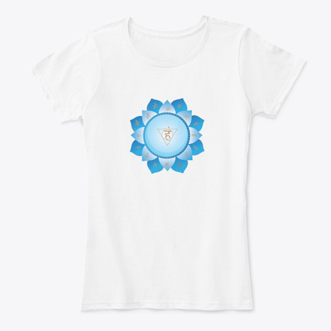 Meditation White T-Shirt Front