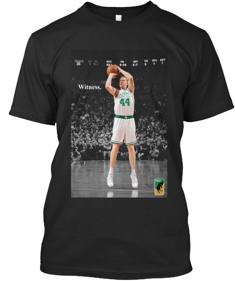 Witness: Brian Scalabrine Boston Black T-Shirt Front