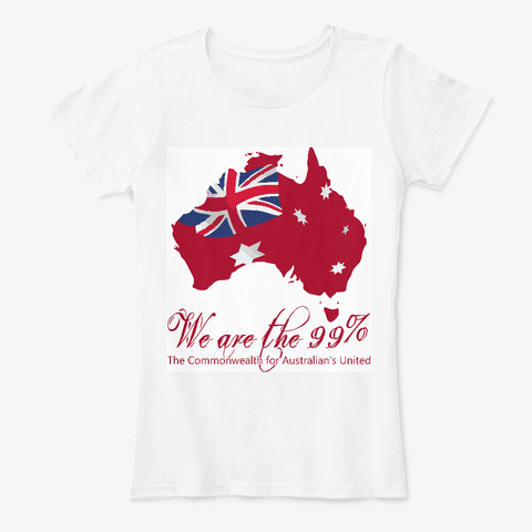 We Are The 99% White T-Shirt Front