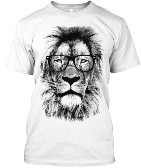 The King Lion Of The Library T-Shirt Front