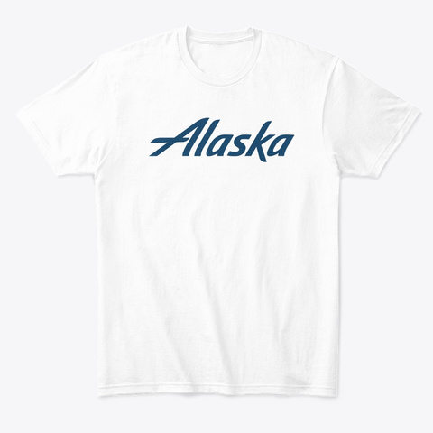 Alaska Airlines White T-Shirt Front