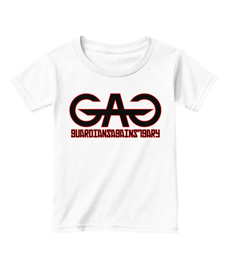 Guardiansagainstgary White  T-Shirt Front