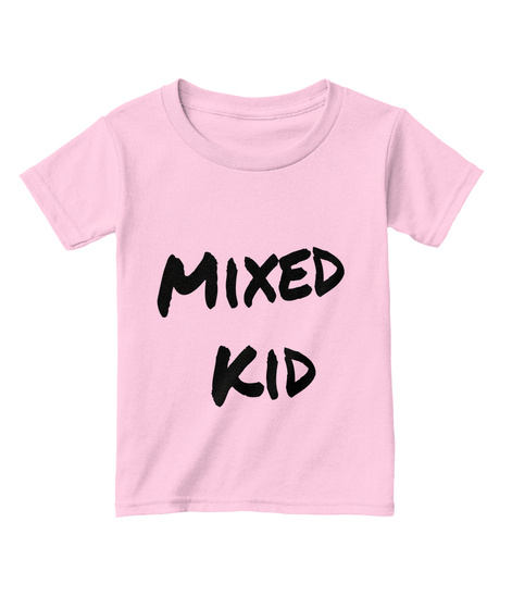 Mixed Kid Light Pink  T-Shirt Front